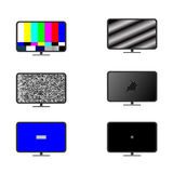 Tv broken icon set Stock Images