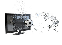 Tv broken Royalty Free Stock Photography