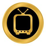 TV button on white. Royalty Free Stock Photography