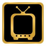 TV button on white. Stock Image
