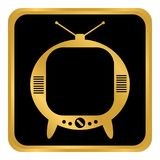 TV button on white. Stock Photography