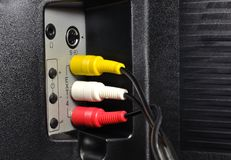 TV Cable input Royalty Free Stock Photography