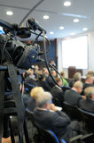 TV camcorder at a conference. Royalty Free Stock Photos