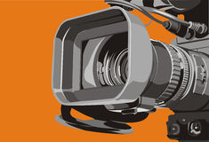 Tv camera. Art illustration of close-up tv camcorder Royalty Free Stock Photography