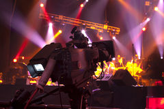 Tv camera. In a concert hall Royalty Free Stock Photos