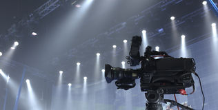 Tv camera Stock Image