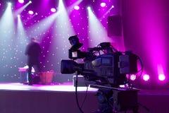 Tv camera in a concert hall. Stock Photos