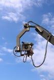 TV camera on crane Stock Images