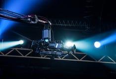 TV camera on crane. On concert. TV camera Stock Photography