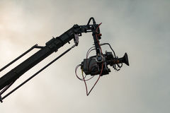 TV camera on a crane Stock Photography