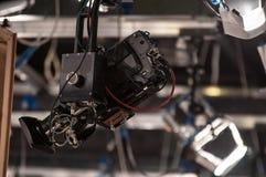 TV camera on crane Stock Photo
