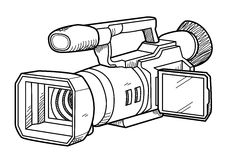 TV Camera Doodle Royalty Free Stock Images