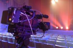TV-camera in een concertzaal Stock Foto's
