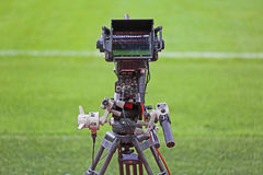 TV camera on football field Stock Image