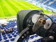 TV at the soccer Royalty Free Stock Photo