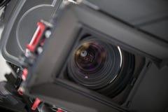 Tv camera lense close up Royalty Free Stock Images