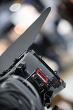 Tv camera look from behind Royalty Free Stock Photography