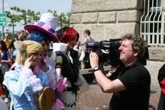 Tv camera man Stock Photos