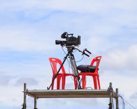 Tv camera at Motor sport.  Stock Photo