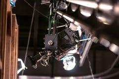 TV-camera op kraan Royalty-vrije Stock Afbeeldingen