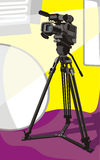Tv camera at studio Stock Photo