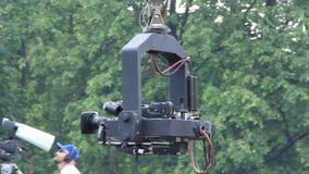 TV-camera. UKRAINE, KIEV, MAY 31, 2010: Video filming at holiday concert in Kiev, Ukraine, May 31, 2010 stock footage