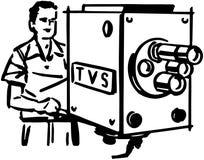TV Cameraman Stock Image