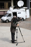 TV cameraman Royalty Free Stock Image