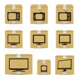 TV cardboard boxes Stock Photography