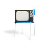 TV on the chair Royalty Free Stock Image