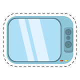 Tv channel movie sound cut line. Illustration eps 10 royalty free illustration