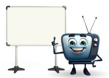 TV character with display board Stock Photography