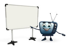 TV character with display board Stock Image