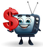 TV character with dollar sign Stock Photography