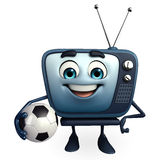TV character with football Stock Photos