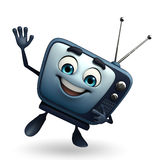 TV character with hello pose Stock Photo