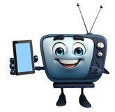 TV character with mobile Stock Photography