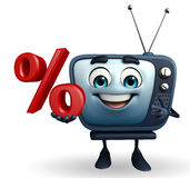 TV character with Percentage Stock Photography