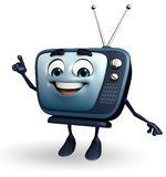 TV character is pointing Stock Photo