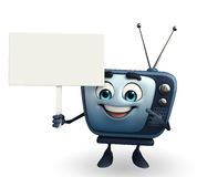 TV character with sign Royalty Free Stock Images