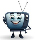 TV character with victory pose Royalty Free Stock Photography