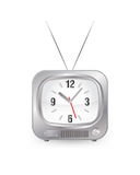 Tv with clock Stock Photography