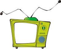 TV cobarde Fotos de archivo