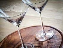 Två coctailexponeringsglas Royaltyfria Foton