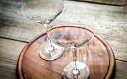 Två coctailexponeringsglas Fotografering för Bildbyråer