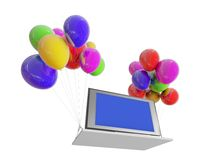 TV on color balloons Royalty Free Stock Photography