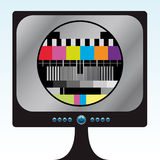 TV Color Test. Vector illustration of a television Stock Images