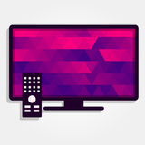 Tv with colorful triangles Royalty Free Stock Photo
