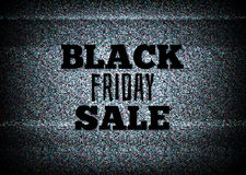 TV commercial black friday sale vector Stock Photography