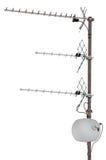 TV- communicatie geïsoleerder antennes, woon, Royalty-vrije Stock Afbeeldingen